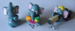 Kinder Série De 3 Eléphantos Eléphant N°2 / 4 / 10 - Kinder & Diddl