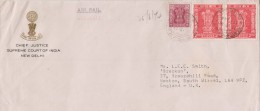 India, Cover From Chief Justice Of Supreme Court Of India, Sent To England, Service, Inde Indien - Dienstzegels