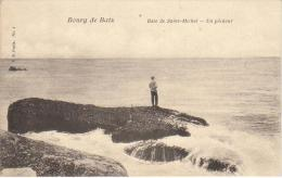 Bourg De Batz Baie De Saint Michel Un Pêcheur - Frankrijk
