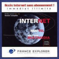 FRANCE EXPLORER. Accès Internet Sans Abonnement! Immédiat Illimité. - Kits De Connexion Internet