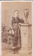 "FOTOGRAFIA PHOTOGRAPHY RITRATTO D´EPOCA ANTE 1900- 6,20 X 10,50-PHOTOGRAPHE ""TH.SCHAHL"" DIJON - Foto"
