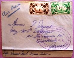 Premiere Liaison Aérienne Française  Papeete-Nouméa T.R.A.P.A.S./ Photo Recto Verso - Tahiti