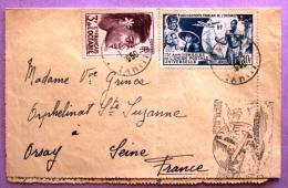 Première Liaison Air France, établissements Français De L'Océanie / 1950 / 4 Photos Recto Verso - Tahiti