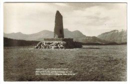 CPSM HAUTELUCE (Savoie) - 1150 M Monument Du Parachutage Au Col Des Saisies 1647 M - Frankreich