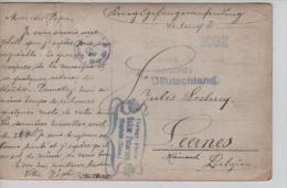 CP D'un PDG/POW écrite Du Camp De Soltau 5/11/17 V. Leernes Censure Du Camp PR570