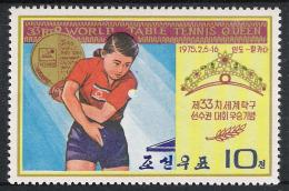 Korea North Nord 1975 Mi 1342 ** MNH Sport Tischtennis Table Tennis Ping-pong Championships WM - Korea (Nord-)