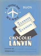Protege Cahier Thème Alimentaire L'oiseau Blanc Dijon  Lanvin Chocolat Lanvin - Cocoa & Chocolat