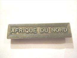 BARETTE ACIER ARGENTE POUR MEDAILLE PENDANTE AFRIQUE DU NORD EXCELLENT ETAT
