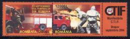 ROMANIA 2004 Fire Service Pair MNH / **.  Michel 5851-52 - 1948-.... Republics
