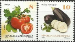 MK 2013-678-9 DEFINITIVE VEGETABLES, MAKEDONIA, 1 X 2v, MNH - Ernährung