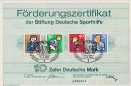 Deutschland Berlin 1974 Förderungszertifikat Deutsche Sporthilfe Michel Nr 468 469 470 471 - [5] Berlin