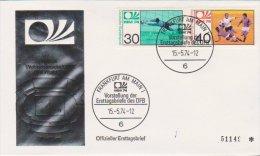 Fussball WM 1974 FDC Michel Nr 811 Und 812 Coupe Du Monde De Football - Coupe Du Monde
