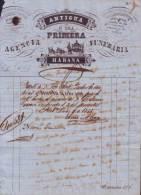 E4571 CUBA SPAIN INVOICE MORTUORY AGENCY 1855. ESPAÑA - Invoices & Commercial Documents