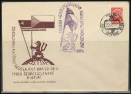 RUSSIA USSR Private Cancellation LATVIA RIGA Klub 006a Czechoslovakia Culture Days - 1923-1991 USSR