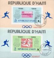 Gewinner Olympiade 1969 Marathon Haiti Block 36+38 O 12€ DR 613 Mexico 1241 Hoja Stamp On Stamp Olympic Sheet Bf Caribic - Summer 1968: Mexico City