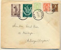 4v952 .: N° 418A+419+570+604+5617:  LEUVEN E2E > Antwerpen... Voor Verdere Studie.. - Briefe U. Dokumente