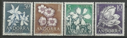 ANDORRA-CORREO ESPAÑOL  ESTOS SELLOS O SIMILARES Nº C. M. ABAD61/64 SIN FIJASELLOS ** - Andorra Spagnola