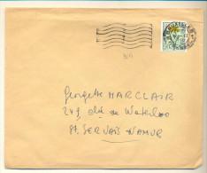 4v959 : N° 814: 1 BRUXELLES 1 BRUSSEL 9.II.1950: > St Servais   : Bloemen: AMICA Der Venen  AMICA Des Fragnes - Unclassified