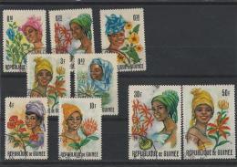 TE145) WOMEN OF GUINEA 1966 - 9VAL Used - Guinea (1958-...)