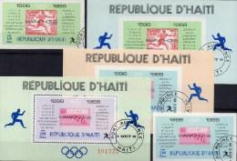 Marathon DR 613 Mexiko 1241 Olympia-Sieger 1968 Haiti 1045,47+Block 36-38 O 28€ Bloque Hoja Stamp On Stamp Sheet Caribic - Mexico