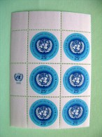 United Nations New York 1966 MINT Stamps With Date - UN Emblem - Scott 150 - X6 = 10.50 $ - Nuevos
