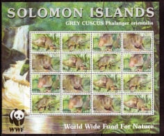 Solomon Islands Scott  927-930 WWF Grey Cus Cus Bird Sheetlet  Mint NH  VF           2/14 - Solomon Islands (1978-...)