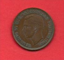 UK, 1947,  Circulated Coin, 1 Penny,  Bronze, KM845, C1769 - 1902-1971 : Post-Victorian Coins