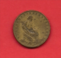BRASIL, 1927, VF Circulated Coin, 1000 Reis, Alu Bronze, Km525, C1780 - Brazil