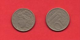 BRASIL, 1970, XF Circulated Coin, 10 Centavos, Copper Nickel, Km578.1, C1783 - Brazilië