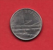 BRASIL, 1979, XF Circulated Coin, 1 Cruzeiro, Stainless Steel, Km590, C1785 - Brazilië