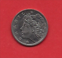 BRASIL, 1975,XF Circulated Coin, 5 Centavos,  F.A.O. Stainless Steel, Km586, C1787 - Brazilië