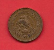 MEXICO, 1944, XF Circulated Coin, 20 Centavos, Bronze Km439, C1798 - Mexico