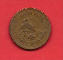 MEXICO, 1943, XF Circulated Coin, 20 Centavos, Bronze Km439, C1799 - Mexiko