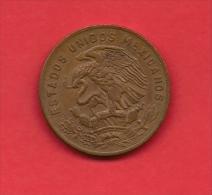 MEXICO, 1970, XF Circulated Coin, 20 Centavos, Bronze Km440, C1800 - Mexico