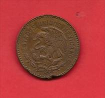 MEXICO, 1956, XF Circulated Coin, 50 Centavos, Bronze Km450, C1801 - Mexico
