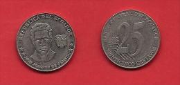ECUADOR, 2000-2005, VF Circulated Coin, 25 Centavos,   C1806 - Ecuador