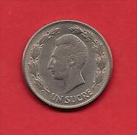 ECUADOR, 1946, XF Circulated Coin, 1 Sucre,   KM 78.2, C1808 - Equateur