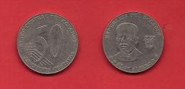 ECUADOR, 2000, XF Circulated Coin, 50 Centavos,     C1810 - Ecuador