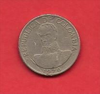 COLOMBIA,1976, XF Circulated Coin, 1 Peso, Copper Nickel,  KM 258.2,  C1813 - Colombia