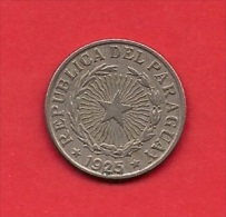 PARAGUAY, 1925, XF Circulated Coin, 2 Pesos, Copper Nickel  KM14,  C1826 - Paraguay