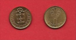 PORTUGAL, 1991-1992, XF Circulated Coin, 1 Escudo, Nickel Brass,   KM 631, C1828 - Portugal