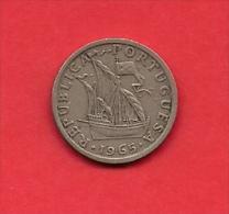 PORTUGAL, 1965, XF Circulated Coin, 2,5 Escudos, Copper Nickel,   KM 590, C1833 - Portugal