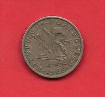 PORTUGAL, 1968, XF Circulated Coin, 5 Escudos, Copper Nickel,   KM 591, C1835 - Portugal