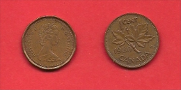CANADA, 1980, XF Circulated Coin, 1 Cent, Bronze,  Km 127,  C1840 - Canada