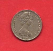 NEW ZEALAND, 1974, XF Circulated Coin, 5 Cent, Copper Nickel,  Km 34,  C1845 - Nieuw-Zeeland