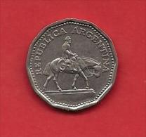 ARGENTINA, 1964,  XF Circulated Coin, 10 Pesos, Nickel  Clad Steel, Km35  C1867 - Argentina