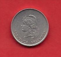 ARGENTINA, 1983,  XF Circulated Coin, 10 Centavos, Aluminum,  Km64  C1868 - Argentinië