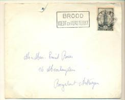 4v933 : N°522 :2 LEUVEN 2 BROOD VOEDT EN VERSTERKT> Borgerhout - Briefe U. Dokumente