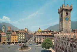 CPA TRENTO-  DOME SQUARE, CIVIC TOWER, MONUMENT, CAR - Trento