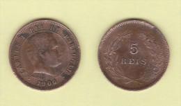 PORTUGAL  (D.Carlos I 1889-1908)  5 Reis 1.906 Bronce KM#530   MBC/VF   DL-10.737 - Portugal